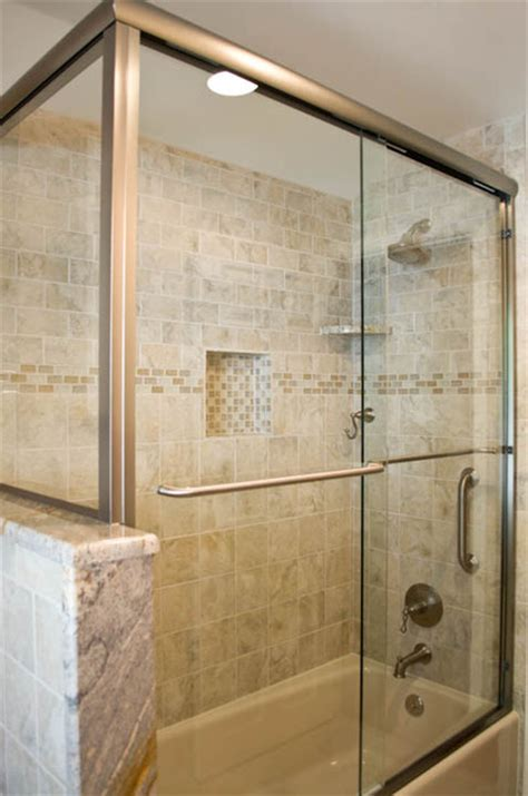 bathroom design  remodel  beigegrey tile