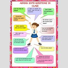 Asking Questions In Class Worksheet  Free Esl Printable Worksheets Made By Teachers