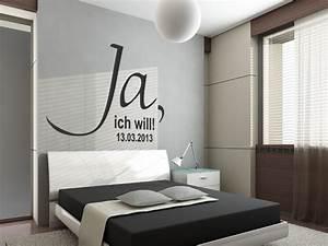 Schwarz Weiß Wohnzimmer : wandtattoo ja mit wunschdatum ~ Orissabook.com Haus und Dekorationen