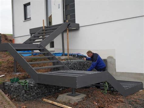 Terrasse Treppe Stahl by Oliver Fritz Gmbh Co Kg Treppen Au 223 En Au 223 Entreppe
