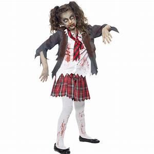 Grusel Kostüm Kinder : kinder kost m zombie school girl gr l kinder halloween ~ Lizthompson.info Haus und Dekorationen