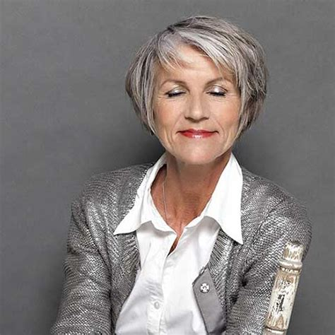stylish short haircuts  older women   page