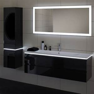 miroir mural contemporain rectangulaire lumineux With miroir salle de bain contemporain