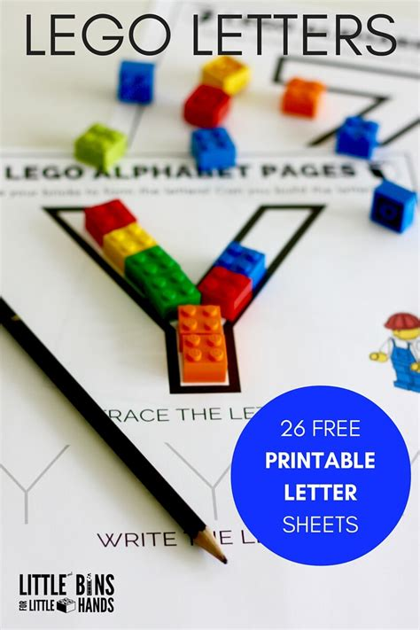 lego letter activity and free printable letter sheets 782 | 4 10