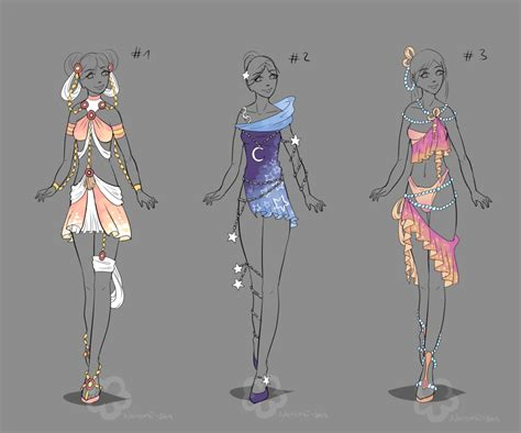 Fantasy Design Adopts #4 - sold by Nahemii-san on DeviantArt