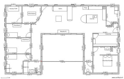 plan de maison 5 chambres plain pied gratuit plan maison plain pied 3 chambres gratuit