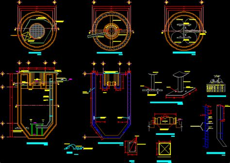 anaerobic reactor details dwg detail  autocad designs cad