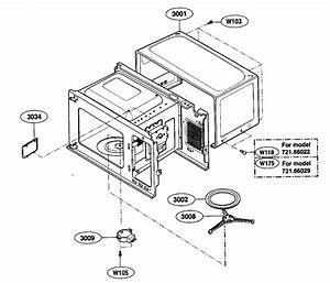 Oven Cavity Parts Diagram  U0026 Parts List For Model