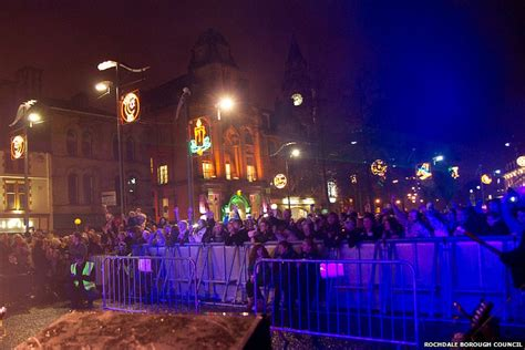 in pics rochdale s lights switch on