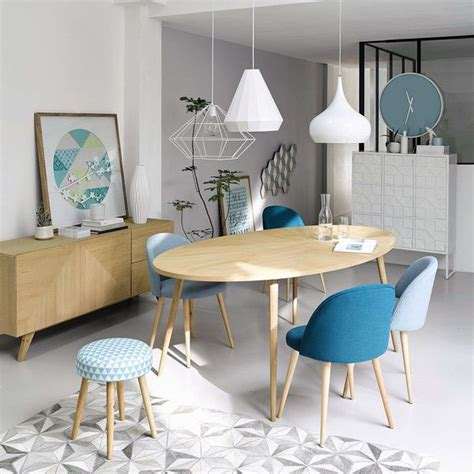 table  manger ovale  personnes  deco salle  manger salle  manger bois mobilier de