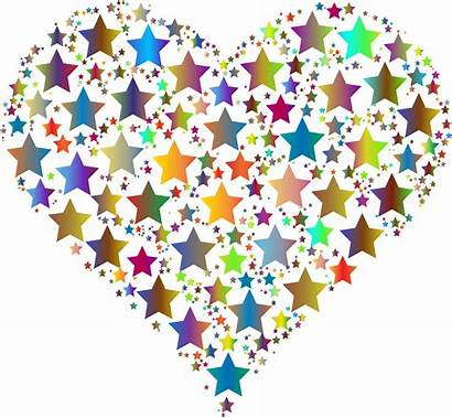 Colorful Stars Clipart Heart Gold Coming Those