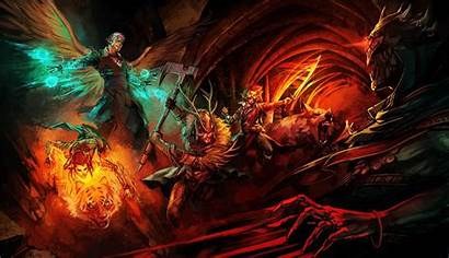 Pathfinder Fantasy Artwork Yamaorce Demon Dragon Warrior