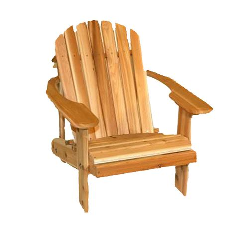 lowes canada adirondack chairs shop cedar cedar adirondack chair at lowes