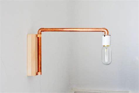 Crftwrks_copper Tube Swivel Wall Mounted Bedside Lamp