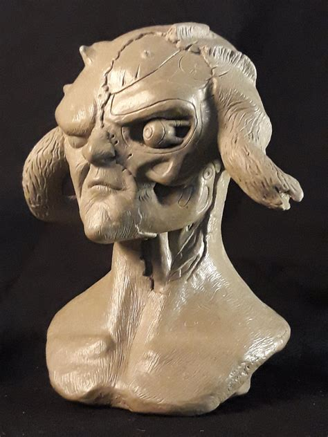 Future pasts (fauratus) wet clay sculpture — Stan Winston ...