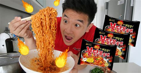 brave    korean fire noodle challenge