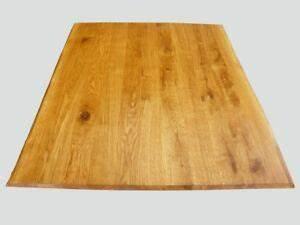 Tischplatte Eiche Geölt : tischplatte arbeitsplatte massiv eiche ge lt naturbelassene baumkante 2 seitig ebay ~ Frokenaadalensverden.com Haus und Dekorationen