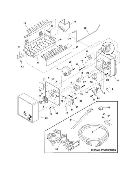 Frigidaire Gallery Refrigerator Parts Diagram Automotive