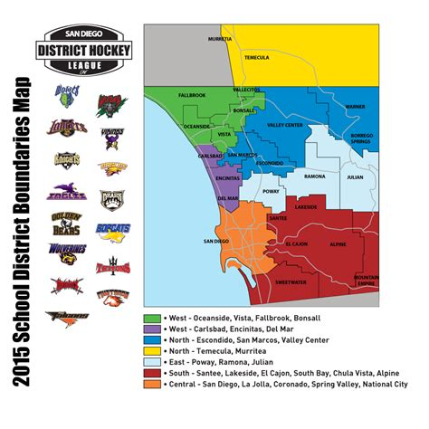 san diego l district district boundaries san diego district hockey league