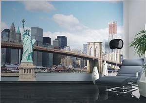 fototapete new york freiheitsstatue nyc skyline 360x270cm With balkon teppich mit skyline new york tapete
