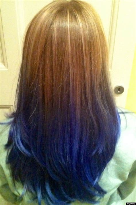 Gallery For Underneath Hair Dyed Blue To Try Dyed