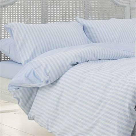 Blue And White Duvet Cover by Blue White Stripe Duvet Cover 100 Cotton