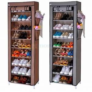Rangement à Chaussures : meuble de rangement chaussure avec 10 tag res ~ Teatrodelosmanantiales.com Idées de Décoration