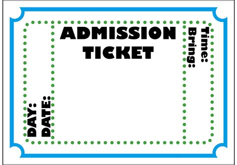 Free Ticket Template Doc 12751650 Free Event Ticket Template Microsoft Word