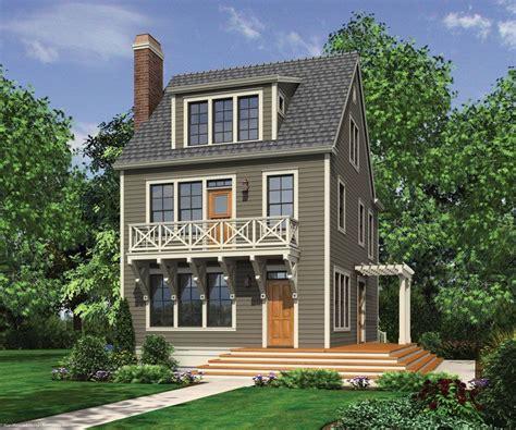 narrow lot house plans  pinterest