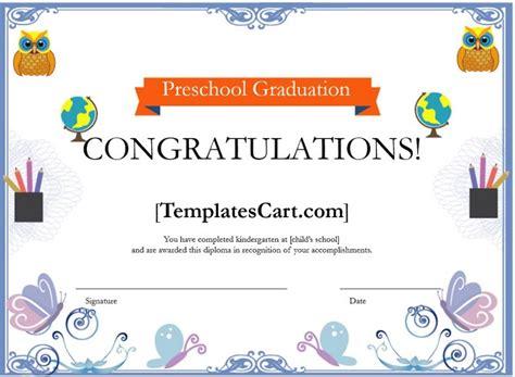 preschool graduation certificate borders template template