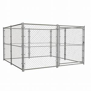 Shop blue hawk 10 ft x 10 ft x 6 ft outdoor dog kennel for Outdoor dog kennel kits