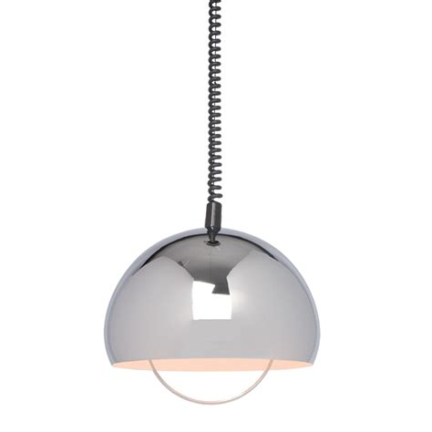 pull kitchen light zodiac dome chrome effect pendant ceiling light 4436