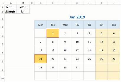 Calendar Template Yearly Excel Month Monthly Templates