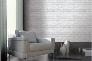 Deco Murale Blanche : papier peint brique ancienne blanche papiers peints brique pierres pas cher ~ Teatrodelosmanantiales.com Idées de Décoration