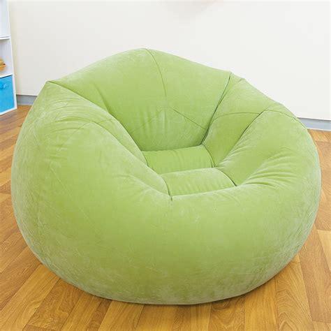 pouf pour chambre pouf gonflable fauteuil disponible en vert violet
