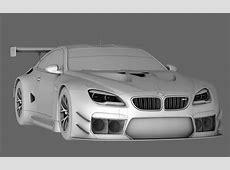 3D model BMW M6 GTLM VR AR lowpoly OBJ CGTradercom