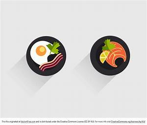 Free Flat Food Icon Vectors