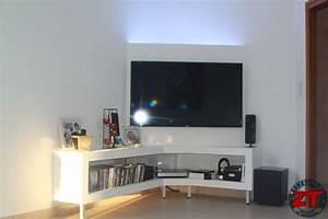 Meuble Tv En Coin : meuble tv en coin meuble tv bois maisonjoffrois ~ Teatrodelosmanantiales.com Idées de Décoration