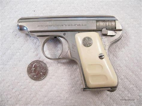 Armigalesi 25 Acp Nickel Pocket Pistol Like B For Sale