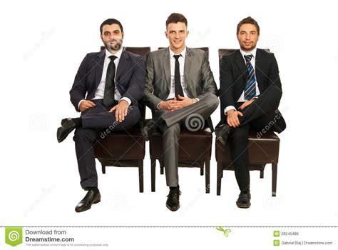 elegant business men sitting chairs royalty  stock