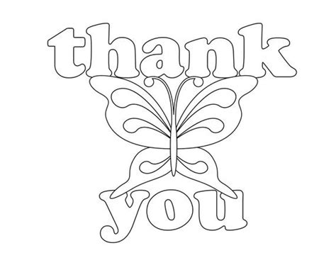 Items Similar To Coloring Book Style Thank You Cards