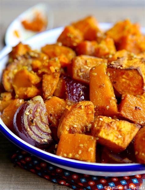 fait tout cuisine courge butternut et patate douce aux épices et graines