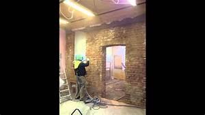 Sabbiatura soffitto legno Sabbiatura volte mattoni YouTube