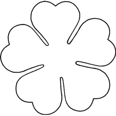 Flower Template 5 Petals by Flower Five Petal Template Clipart Cliparts Of