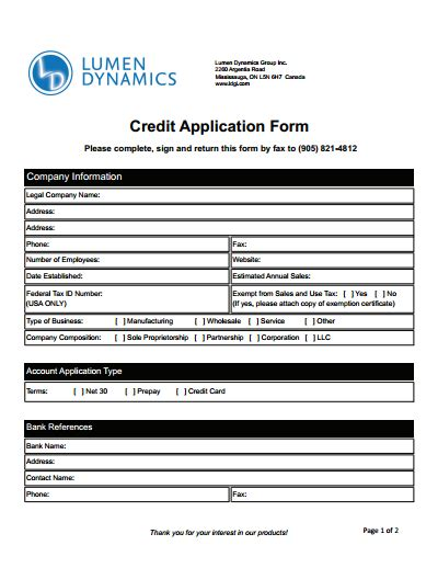 credit application form create edit fill and