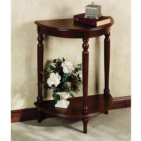 small white entry table furniture dark wood entryway table and half moon foyer