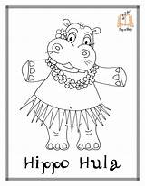 Coloring Pages Hippo Hula Printable Sing Hustle Getcoloringpages Christmas Sheets Hoop Dancer Hawaiian Story Disegni Chicken Dancers Minnie Mouse Cha sketch template