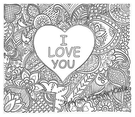 easy coloring page romantic gift  love  art love etsy
