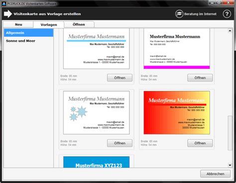 visitenkarten software  freewarede