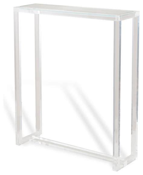 tall narrow end table ava modern hollywood tall narrow acrylic console table